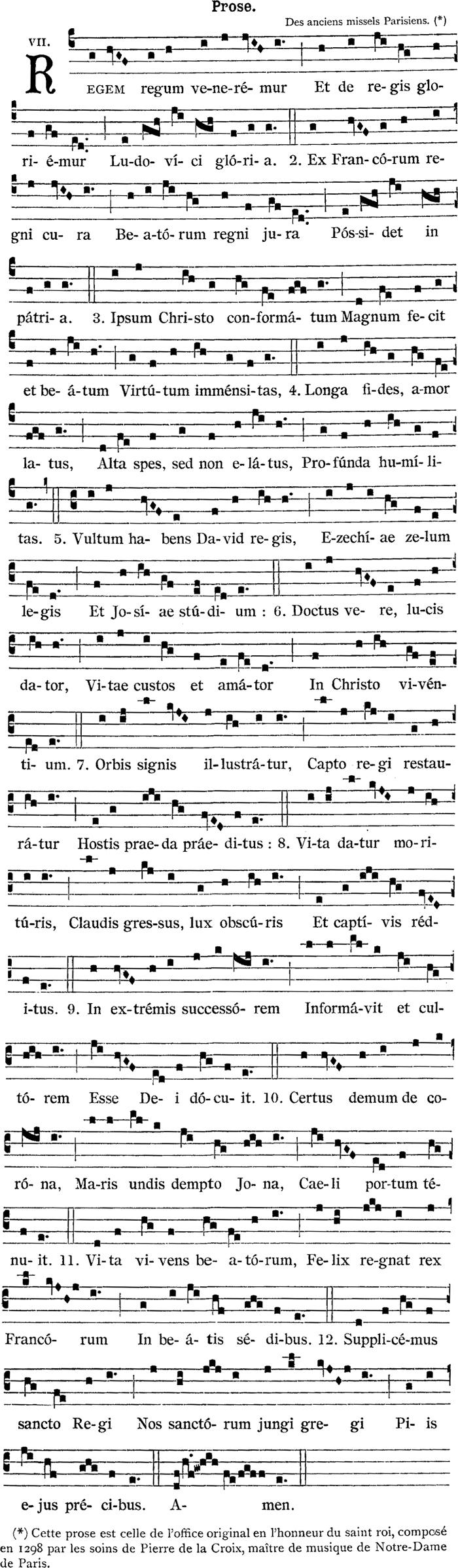 Prose de saint Louis