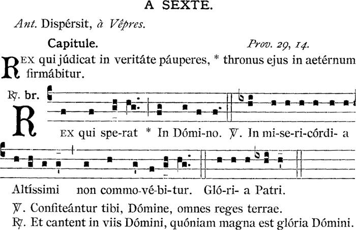Sexte de saint Louis