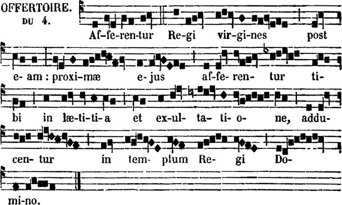 offertoire de sainte Cécile, vierge & martyre