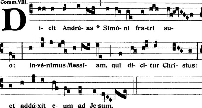 Communion de la vigile de saint André