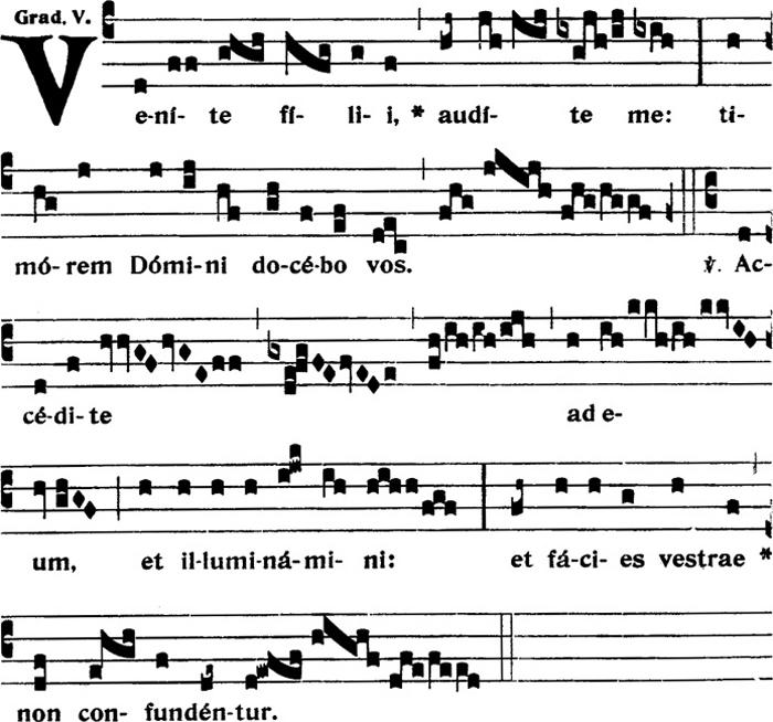 Graduel du VIIème dimanche apres la Pentecote
