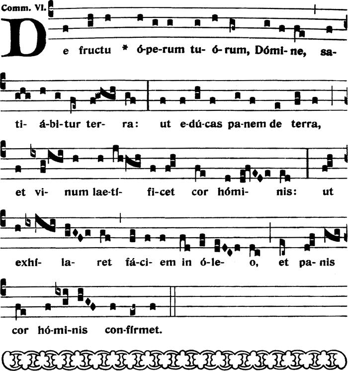 Communion du XIIème dimanche apres la Pentecote