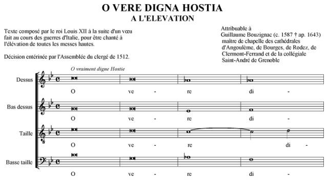 Guillaume Bouzignac - Elévation - O vere digna Hostia