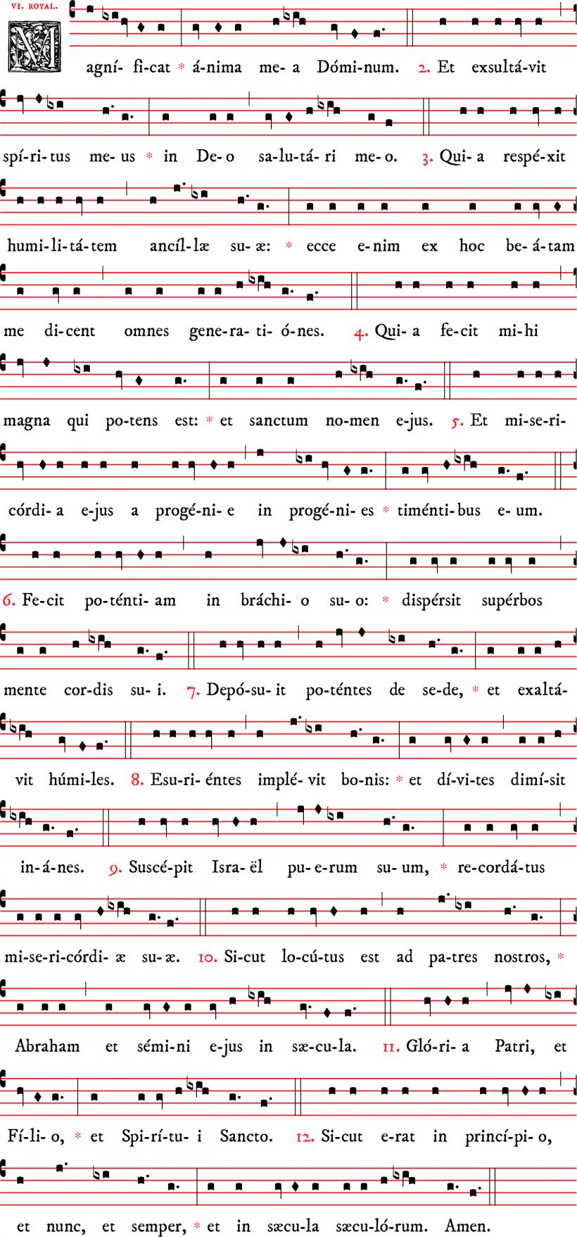 Magnificat royal - plain-chant traditionnel français