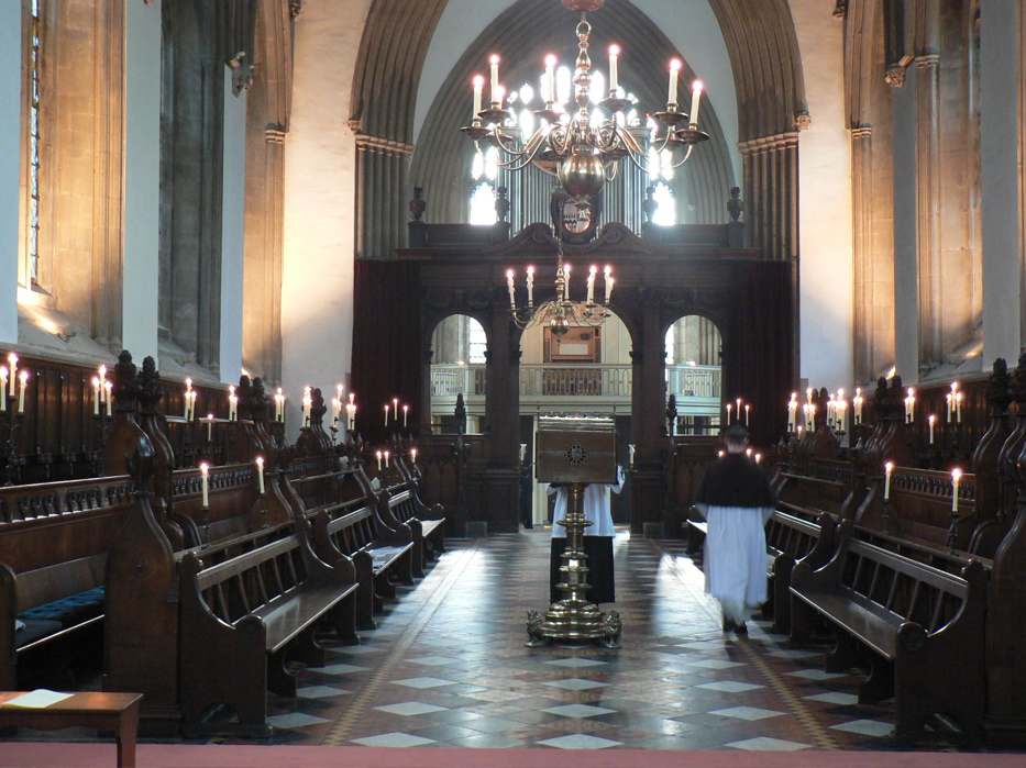 Vêpres pontificales à Merton College, Oxford