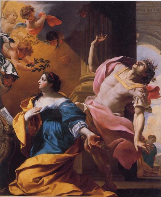 Sainte Cécile, Vierge & Martyre, convertissant son époux Valérien - attribué à Charles Poerson vers 1640
