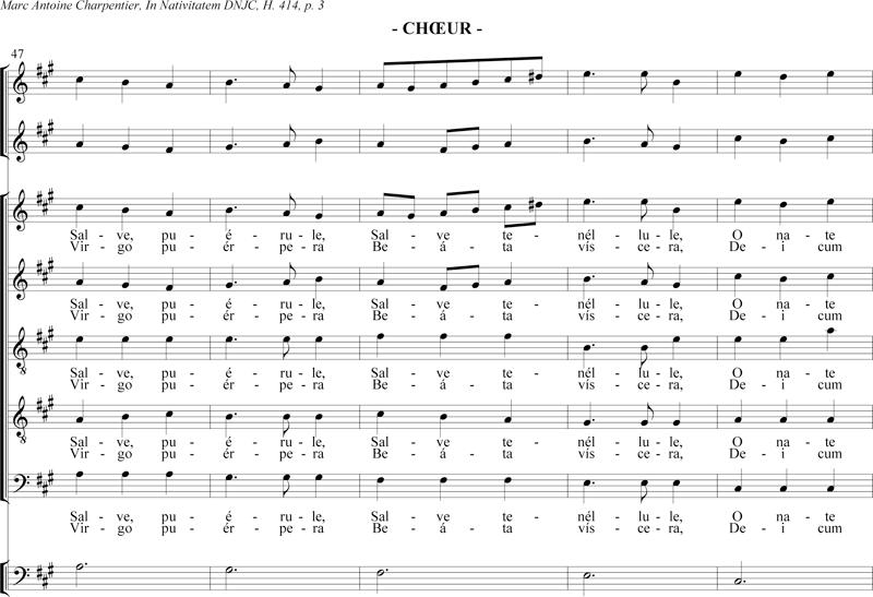 Marc-Antoine Charpentier - In Nativitatem canticum - chœur Salve puerule (H. 414)
