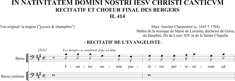 Marc-Antoine Charpentier - In Nativitatem canticum - récitatif de la basse (H. 414)