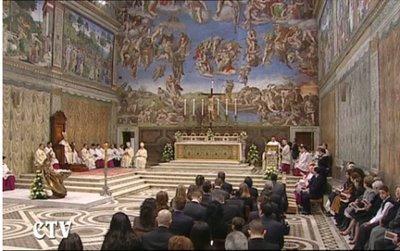 Le Pape célèbre Ad Orientem à la chapelle Sixtine