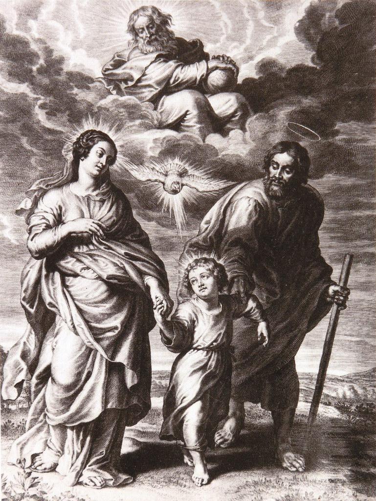 La sainte Famille - gravure de Schelte Adams Bolswert, d
