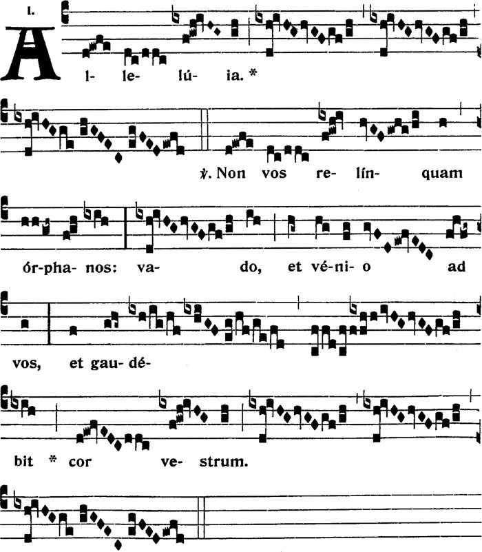 Second alleluia du dimanche dans l'octave de l'Ascension
