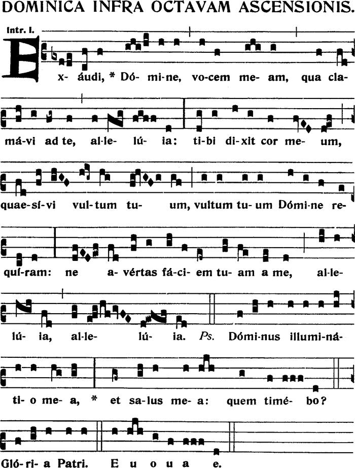 Introït du dimanche dans l'octave de l'Ascension