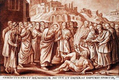 Le Christ chasse un démon muet
