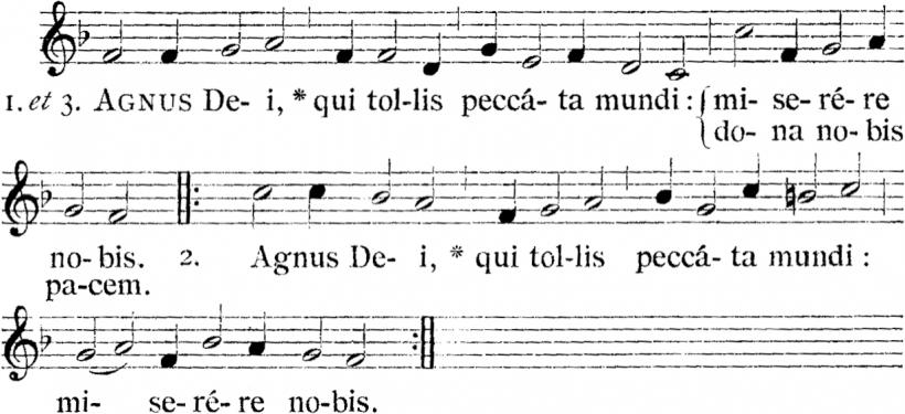Henry du Mont, Agnus Dei de la Messe royale du VIème ton