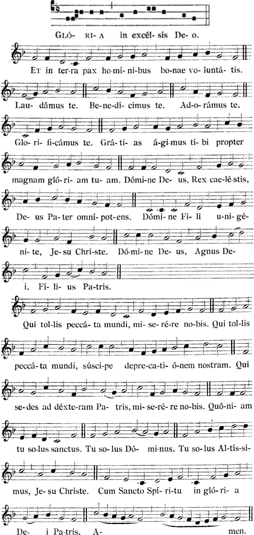 Henry du Mont, Gloria de la Messe royale du VIème ton