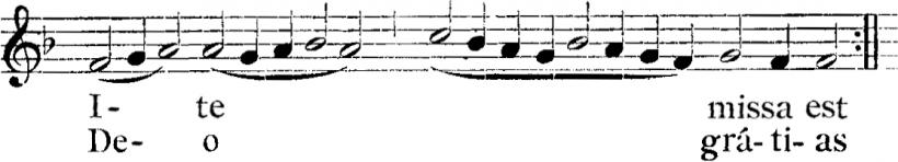 Henry du Mont, Ite missa est de la Messe royale du VIème ton