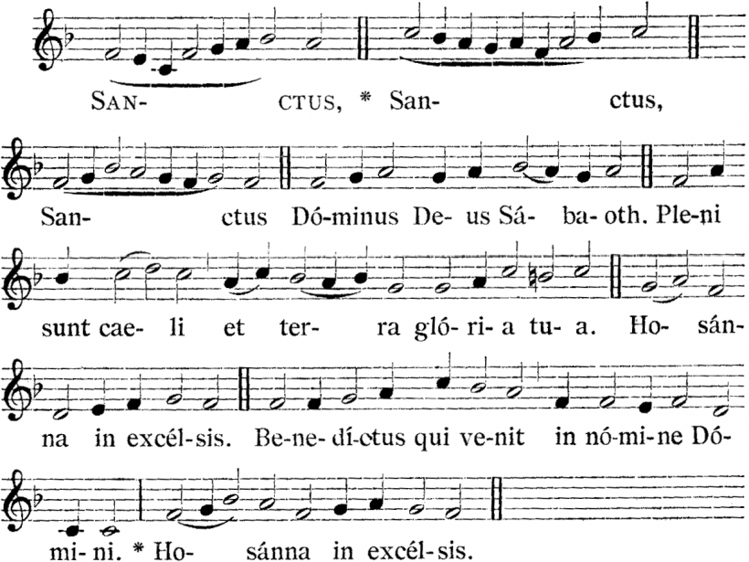 Henry du Mont, Sanctus de la Messe royale du VIème ton