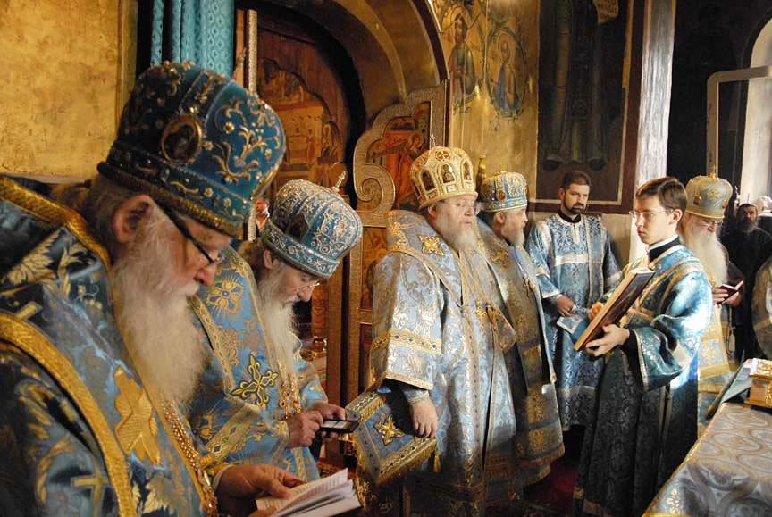 Liturgie au monastère Saint-Savva de Zvenigorod
