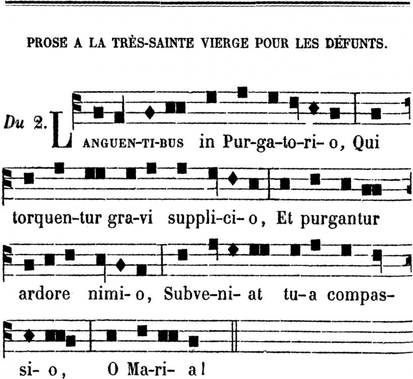 Languentibus in Purgatorio - plain-chant de Coutances