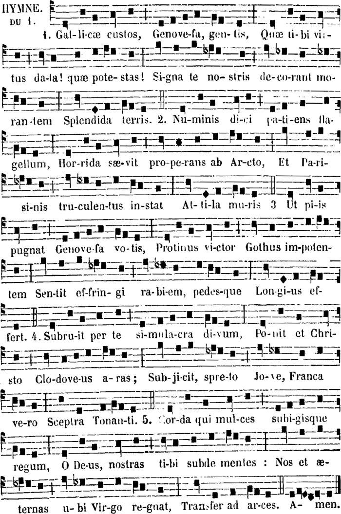 Hymne des secondes vêpres de sainte Geneviève