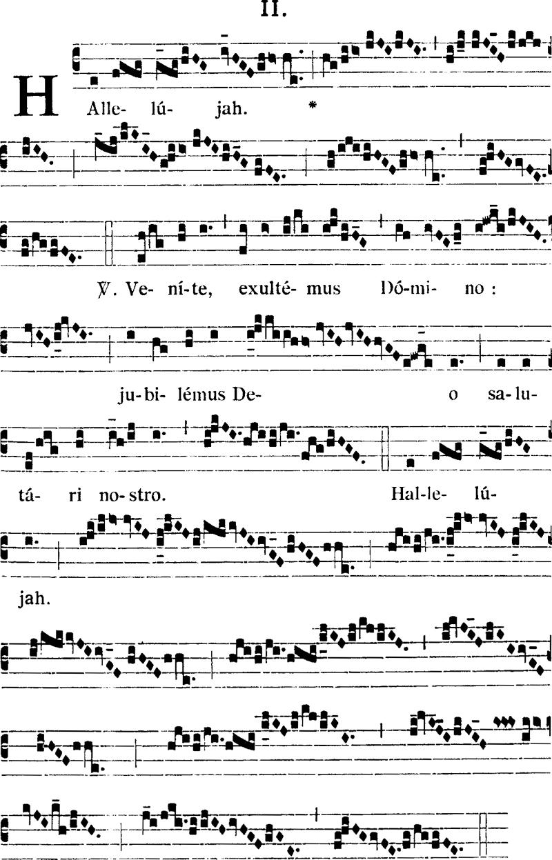 Hallelujah ambrosien II du commun dominical
