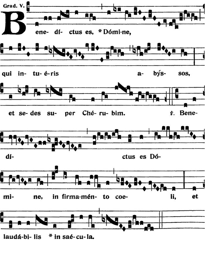 Graduel - Benedictus es Domine - ton v