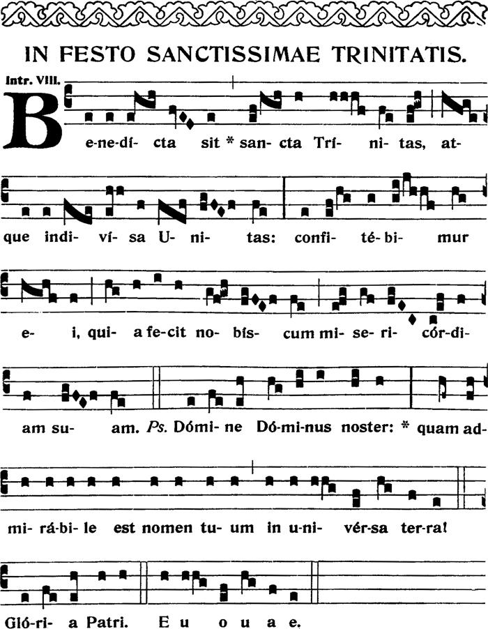 Introït - Benedicta sit sancta Trinitas - ton viii