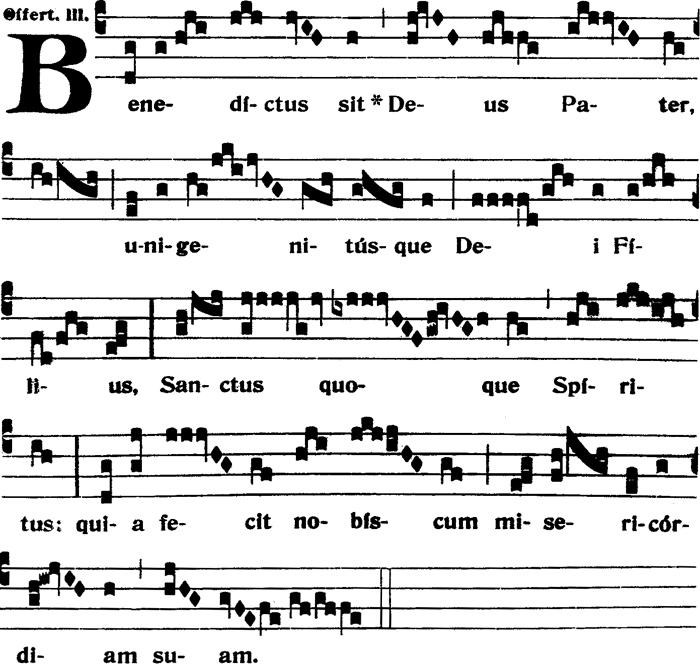 Offertoire - Benedictus sit Deus - ton iii