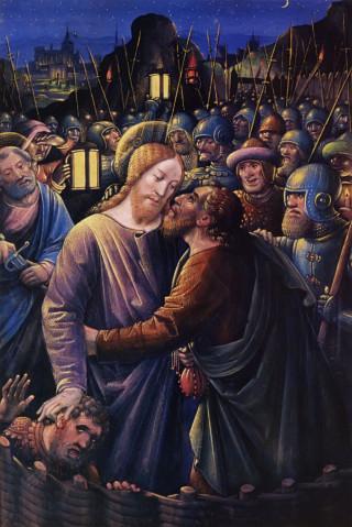 Le baiser de Juda par Jean Bourdichon circa 1500