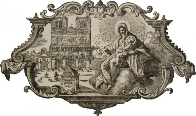 Notre-Dame de Paris - gravure des livres liturgiques parisiens du XVIIIème siècle