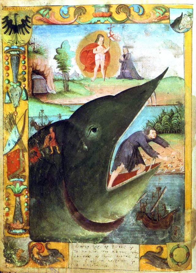 Le signe de Jonas : le prophète Jonas avalé trois jours par la baleine