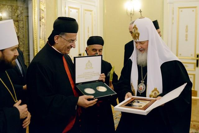 Rencontre du patriarche d'Antioche des Maronites & du patriarche de Moscou
