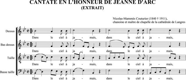 Chanoine Couturier : Chœur de la Cantate à Jeanne d'Arc : Dans le ciel à jamais, Jeanne est triomphante