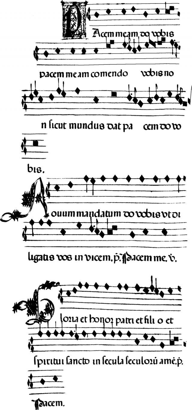 Pacem meam do vobis : Ad pacem ordinaire de la messe mozarabe