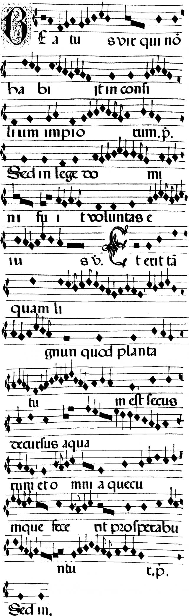Psallendum Beatus vir de la messe d'un martyr pontife