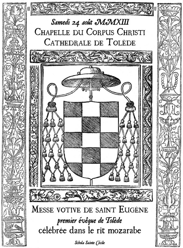 Messe mozarabe saint Eugène, premier évêque de Tolède
