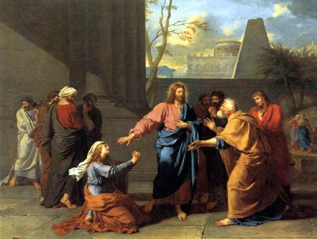 La veuve de Naïm implorant Notre Seigneur Jésus de ressusciter son Fils. Jean-Germain Drouais. XVIIIème siècle.