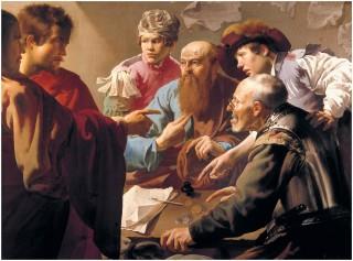 Hendrick Ter Brugghen - l'appel de saint Matthieu - 1621 -Central Museum Utrecht