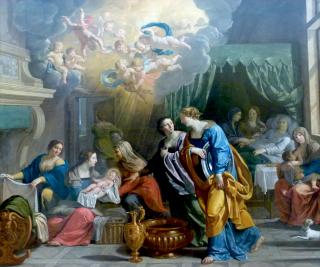 Huile sur toile c. 1638-1639 pour servir de carton de tapisserie pour la Tenture de la vie de la Vierge - May de Notre-Dame de Paris conservé au musée d'Arras. Crédit photographique : Henri de Villiers ©