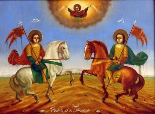 Icône arabe des saints Serge & Bacchus