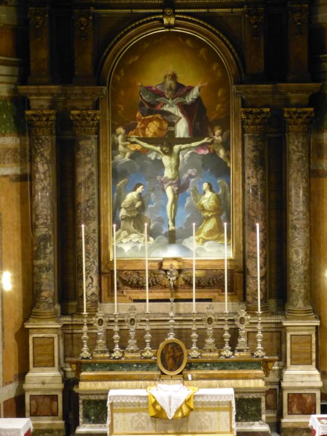 L'autel de la Trinité-des-Pèlerins préparé pour les vêpres pontificales