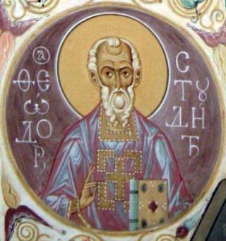 Saint Théodore Studite - fresque de la cathédrale de la Trinité à Kostroma - 2005