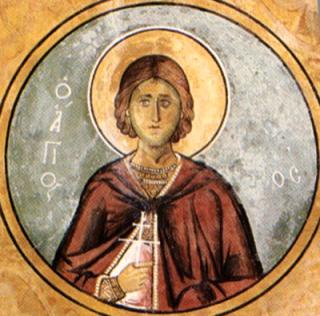 Saint Vincent de Sarragosse - fresque grecque de 1192