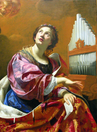 Sainte Cécile par Simon Vouet ca. 1626, Wadsworth Atheneum, Hartford (Connecticut)