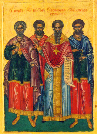Saints Menas, Victor, Théodore Studite et Vincent