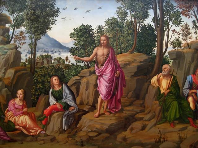 Francesco Granacci, saint Jean Baptiste prêche au désert - c. 1510