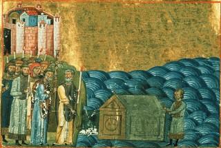 Invention des reliques de saint Clément un an après son martyre - les fidèles récupèrent son corps dans la Mer Noire