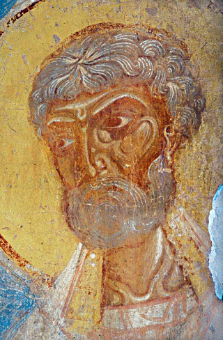 Saint hiéromartyr Clément, Pape de Rome - icône du Vieux-Ladoga
