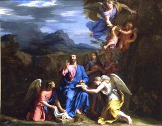 Le Christ au désert servi par les Anges - Philippe de Champaigne