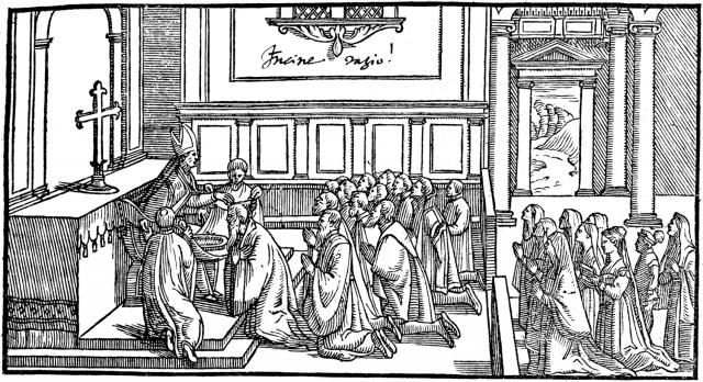 01 - Imposition des Cendres par le pontife - Pontifical de 1561